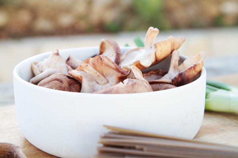 Sobanoedels met shiitake en miso