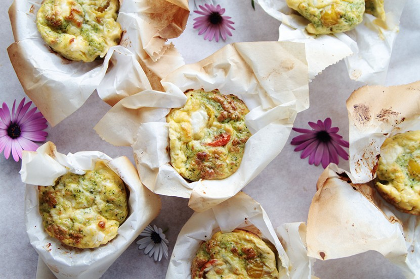 Egg-broccoli muffins